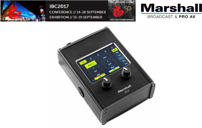 Marshall Presents Its Lasest Remote, Touchscreen RCP Camera Controller At IBC2017