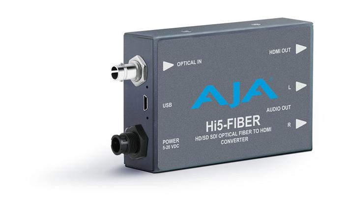AJA Updated Hi5-Fiber Mini-Converter Now Shipping