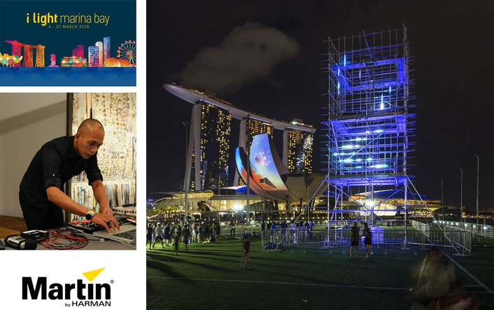 Martin Illuminates SONICtower Installation at Singapore's i Light Marina Bay 2016