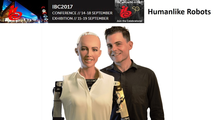 IBC2017 welcomes Sophia and Professor Einstein™,  the world's most humanlike robots