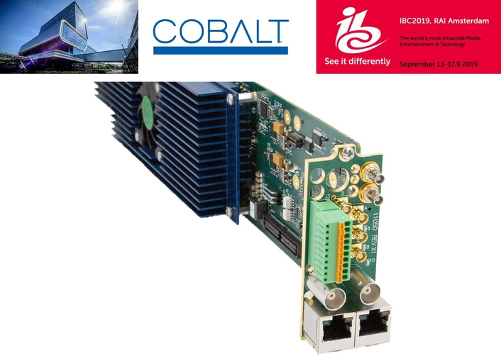 Cobalt Digital Solutions Support 4K Workflows for Studio and Mobile Applications at IBC2019