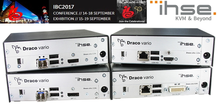 IHSE extends the unique Draco ultra KVM extender series to include additional video standards