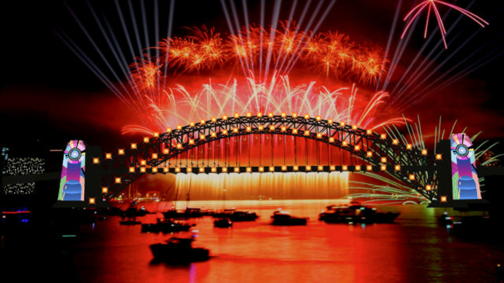 Astera for 'Field of Dreams' at  Sydney New Year Celebrations