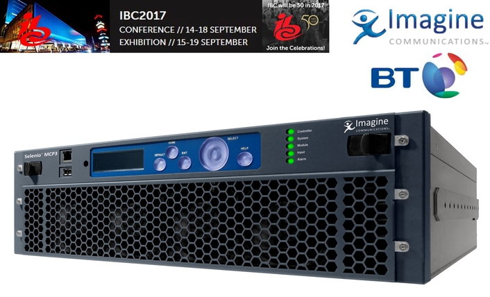 Imagine Communications and BT Collaborate on UHD Contribution Demonstration at IBC