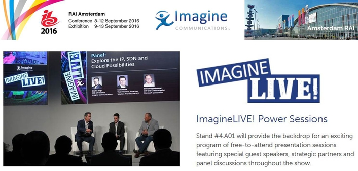 Imagine Communications Presents the ImagineLIVE! Power Session Series at IBC2016