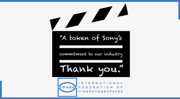 IMAGO helps to deliver Sony's  COVID-19 Relief Funds to international cinematography community