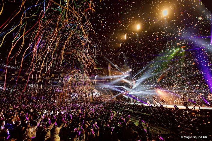 BRITANNIA ROW SUPPLIES UK's LARGEST INDOOR PA RIG FOR JAY CHOU