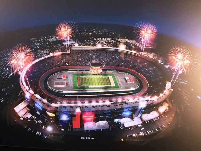 wTVision partners with Panasonic on the production of the largest game in American Football History