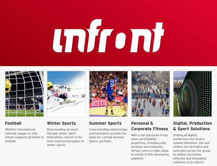 Infront splits Summer Sports and Football Business