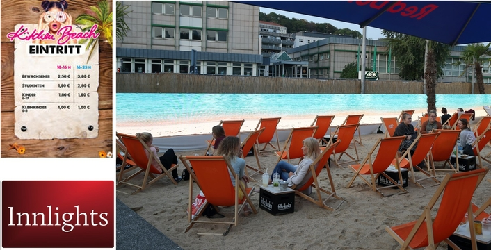 In the middle of Wuppertal on the beach