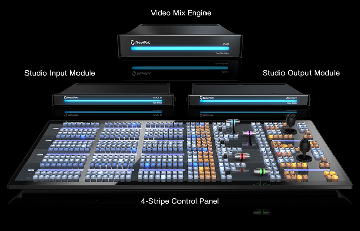 New software-driven, infinitely expandable approach to switching, input, and output of video sources over IP and SDI represents the biggest shift in large-scale production technology in 30 years
