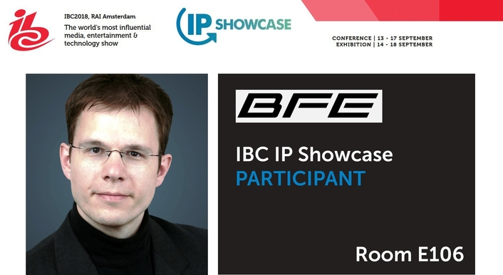 BFE to present at IBC2018 IP Showcase Event