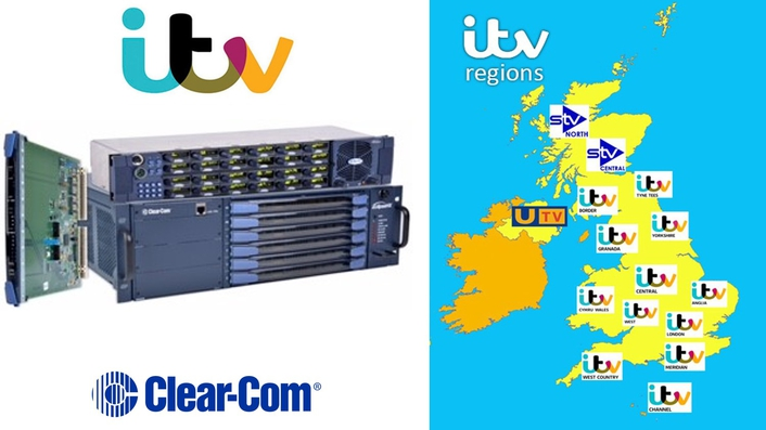 CLEAR-COM SOLUTIONS PROVIDE FLEXIBLE COMMUNICATIONS FOR SIX ITV REGIONAL STUDIOS