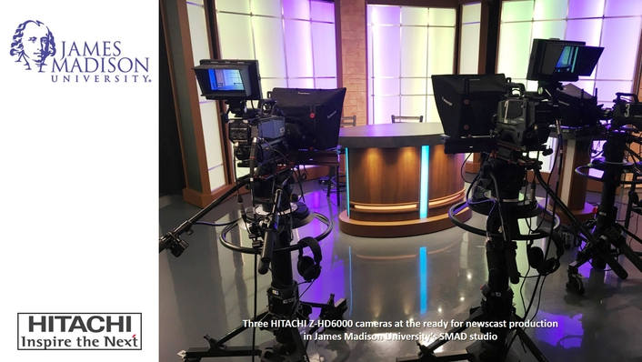 James Madison University Enhances Hands-On Media Production Education with HITACHI Z-HD6000 Cameras