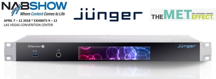 Jünger Audio Launches A Groundbreaking Audio Processing Platform At NAB 2018