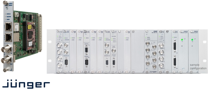Jünger Audio Add DANTE™/AES67 and MADI Connectivity To Its Modular C8000 Audio Processing System