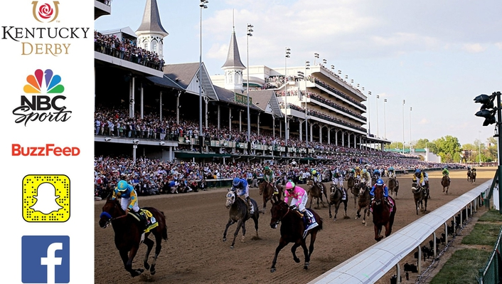 Buzzfeed, SnapChat, Facebook Live in NBC Sports' Plans for Kentucky Derby