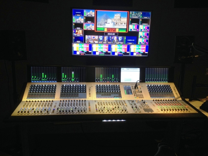 Complete broadcast mixing solution includes Studer Vista V console, D23M digital I/O systems and Compact Stageboxes