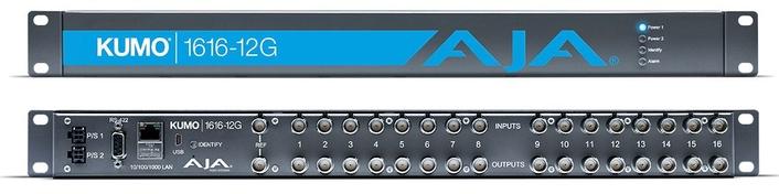 AJA Releases KUMO 1616-12G Compact 12G-SDI Router