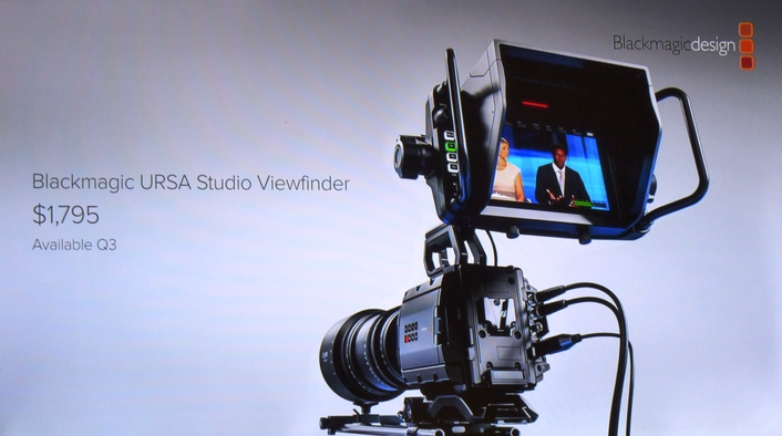 Turn URSA Mini into the ultimate professional studio camera with a 7 inch studio viewfinder!