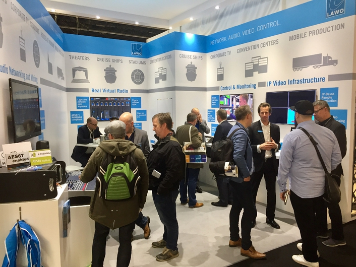 Lawo debuts the all new V_pro8 8 channel video processing toolkit at ISE 2017