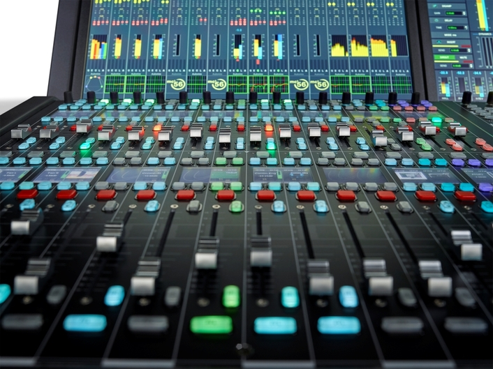 Third-Generation  Lawo mc²56 Production Console Intros Dual Fader Bay