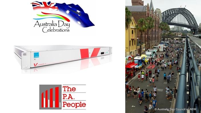 Lawo V__remote4 debut at Australia Day Celebrations on Sydney Harbour