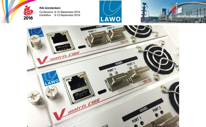 Lawo with Innovative Network, Audio, Video, and Control Solutions at IBC2016
