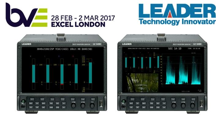 Leader Adds Five-Bar Display to LV5490 4K Multiscreen Waveform Monitor
