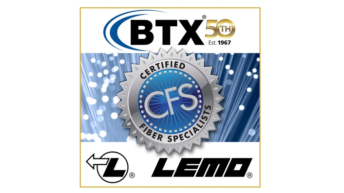 BTX Recertified as LEMO Assembler of SMPTE Assemblies