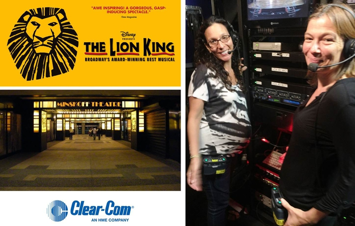 BROADWAY'S THE LION KING UPGRADES TO CLEAR-COM'S FREESPEAK II