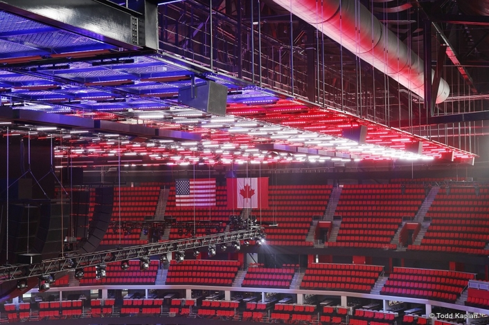 Little Ceasars Arena and Elation Custom Light Ceiling in a Class by Itself