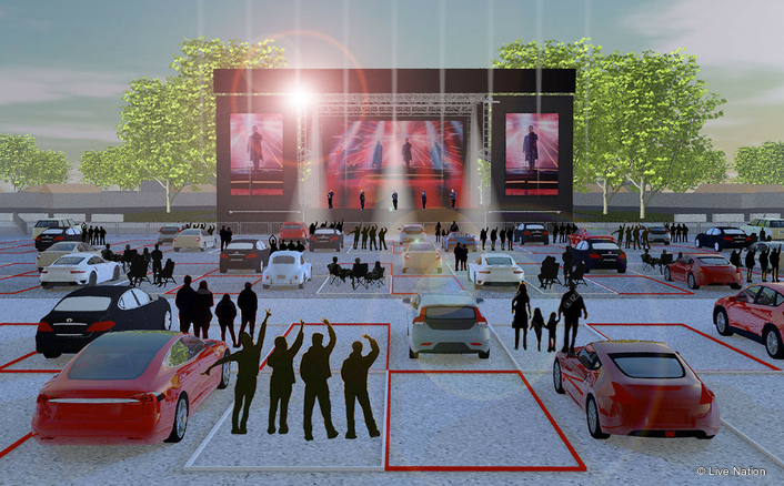 """""""Live From the Drive-In"""" will take place in amphitheater parking lots in three cities."""