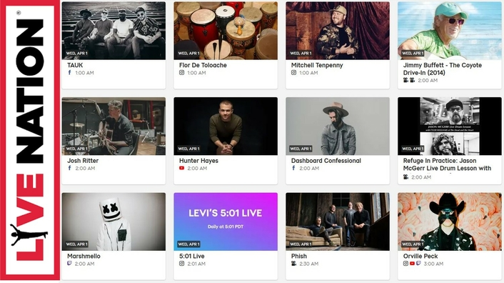 Live Nation introduces 'Live at Home' site