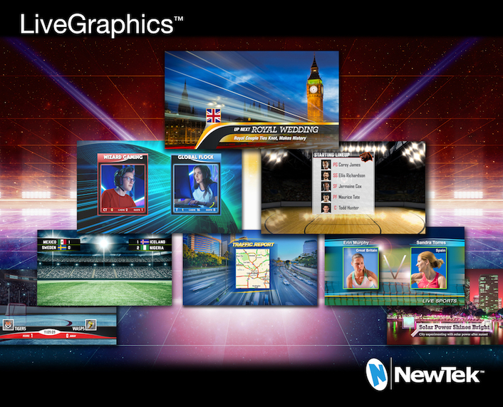 NewTek Raises the Bar on Graphics for Live Production with the Release of LiveGraphics™