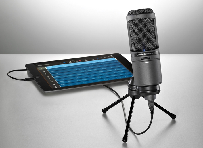 Newest iteration of A-T's acclaimed AT2020USB features 24-bit/96 kHz recording, and compatibility with iOS, Windows and Mac OS X