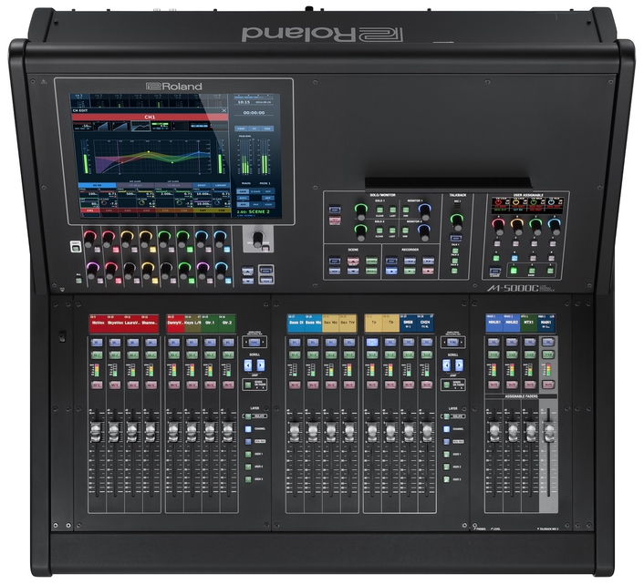 The M-5000C is the latest addition to the growing line-up of O.H.R.C.A. based consoles that include the 28 fader M-5000