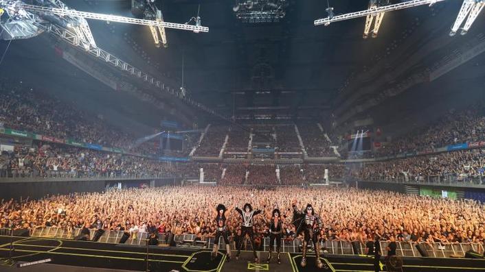 Rock Legends KISS Tour Europe with Elation Platinum Beams