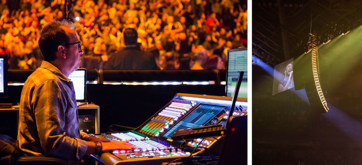 FOH engineer Jim Ebdon and the Grammy Award-winning band continue to tour with Sound Image's K1/K2 sound system