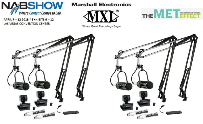 MXL AND MARSHALL OFFER VISUAL PODCASTING STATION (VPS) BUNDLES AT NAB 2018