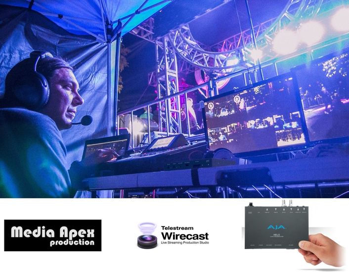 AJA HELO Simplifies Streaming and Recording for Media Apex Productions Live Event Productions