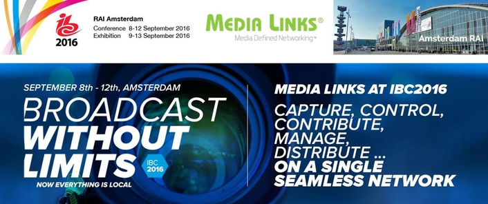 Media Links To Launch 4K IP Quick-Start Packages at IBC