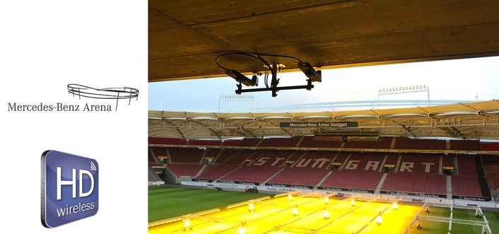 HDwireless-system for Mercedes-Benz-Arena