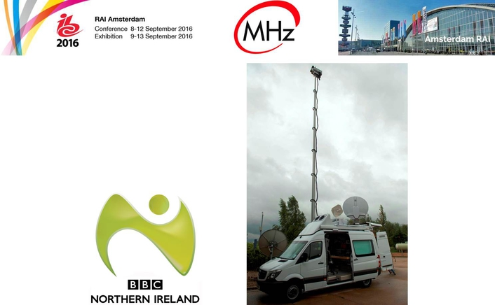 First Showing of Megahertz's BBC Northern Ireland DSNG truck at IBC2016