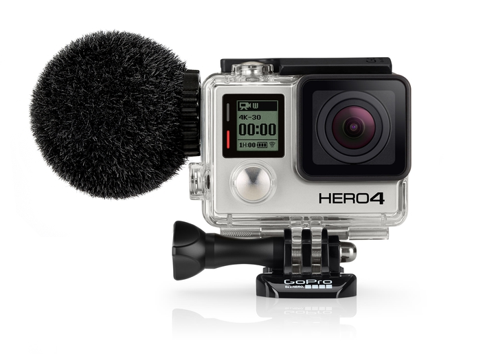 The waterproof MKE 2 elements microphone for the GoPro® HERO®4 action camera
