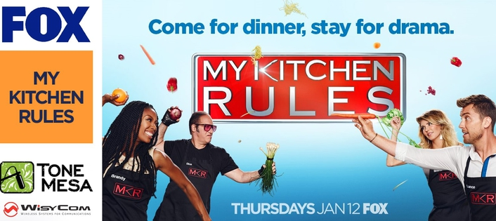 WISYCOM WHIPS UP WIRELESS FEAST FOR  NEW FOX REALITY COOKING SERIES, MY KITCHEN RULES