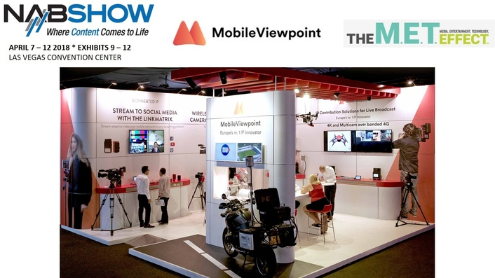 Mobile Viewpoint to showcase Artificial Intelligence-driven production and storage solutions at NAB 2018
