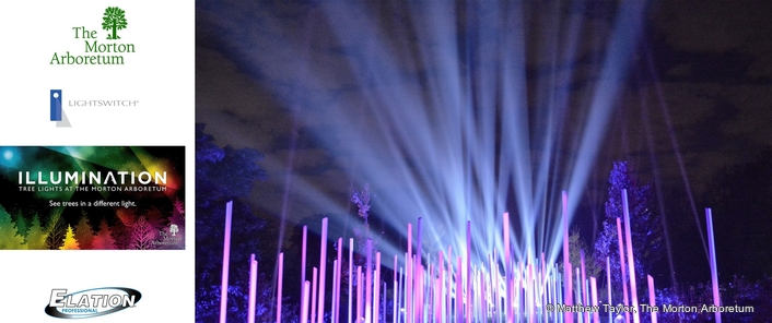 Elation's IP65 Proteus Beam™ Debuts at Morton Arboretum
