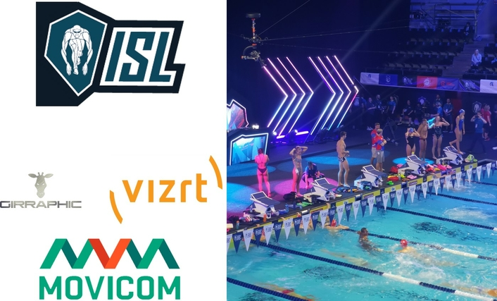 Robycam flies indoors with the International Swimming League