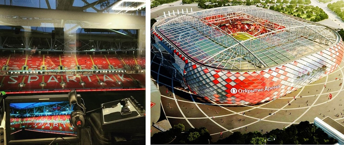Testing of the system was held at Otkritie Arena stadium (Moscow, Russia), one of the coming FIFA World Cup 2018 stadiums